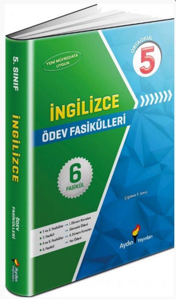 5.Sınıf İngilizce Ödev Fasikülleri 6 Fasikül - Aydın Yayınları