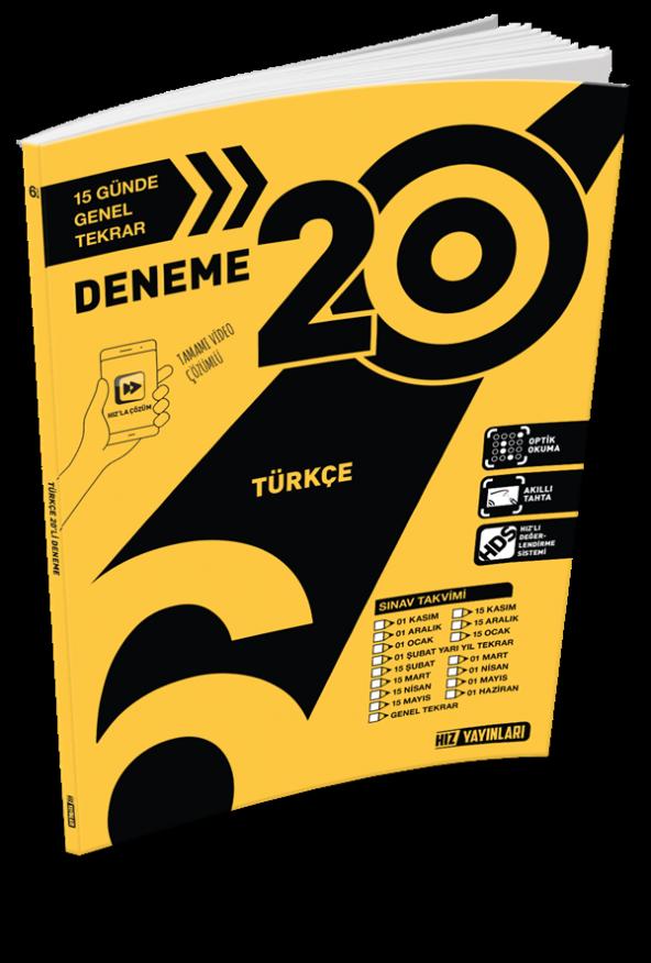 6.Sınıf 20Li Türkçe Deneme  - Hız Yayınları