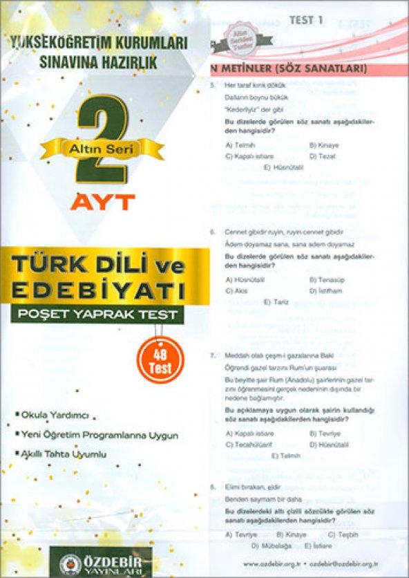 Altın Seri Ayt Türk Dili Ve Edebiyatı - Özdebir Yayınları
