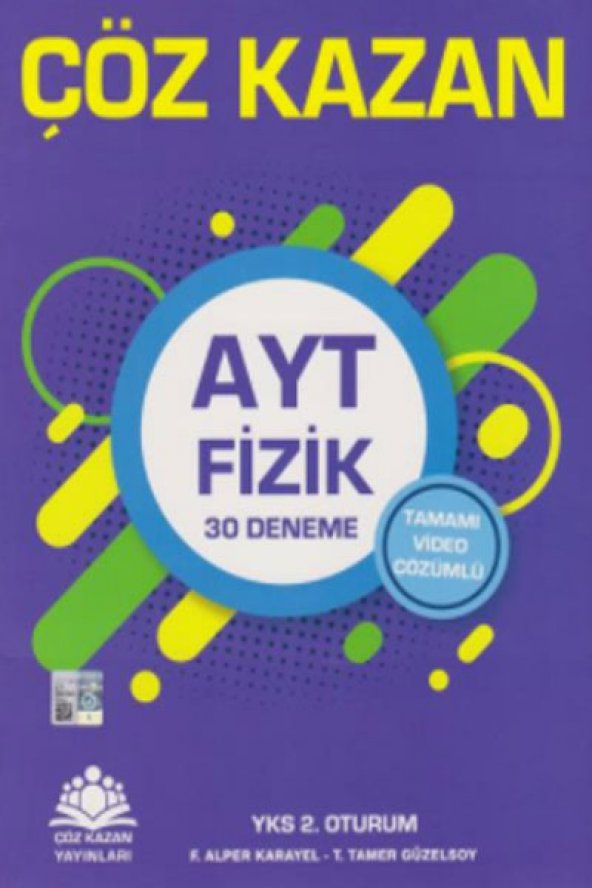 Çöz Kazan Yks 2.Oturum Ayt Fizik 30Lu Deneme - Çöz Kazan Yayınları