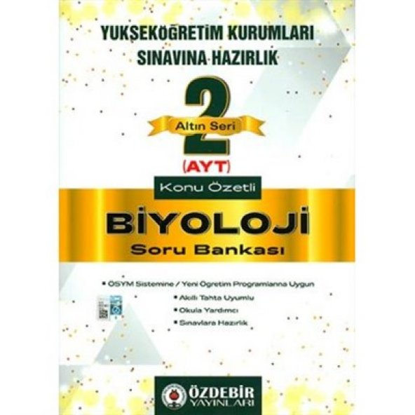Altın Seri Ayt Biyoloji Soru Bankası - Özdebir Yayınları