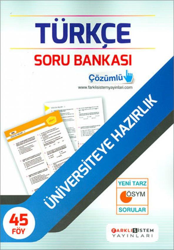 Farklı Sistem Tyt Türkçe Soru Bankası - Farklı Sistem Yayınları