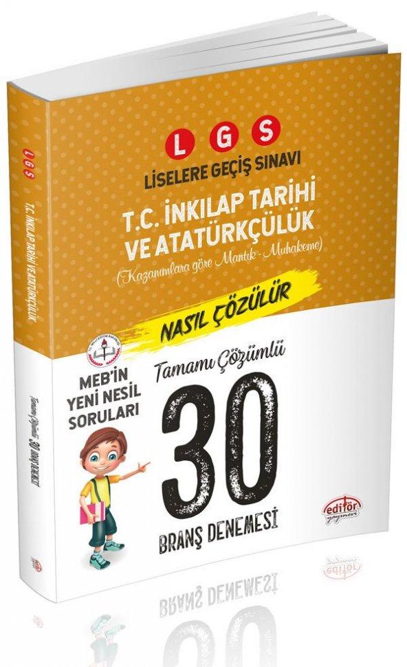 Editör Lgs İnkılap Tarihi 30 Branş Denemesi  - Editör Yayınevi