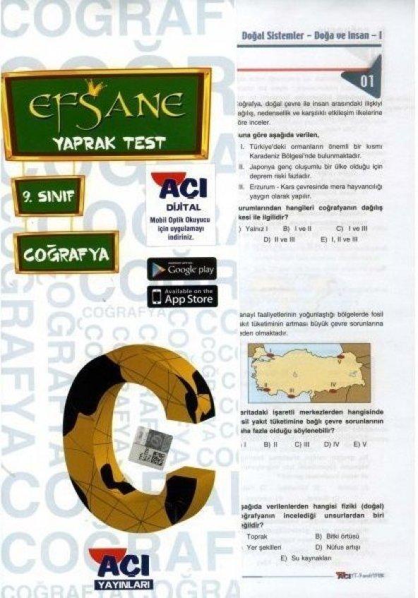9.Sınıf Coğrafya Yaprak Test - Açı Yayınları