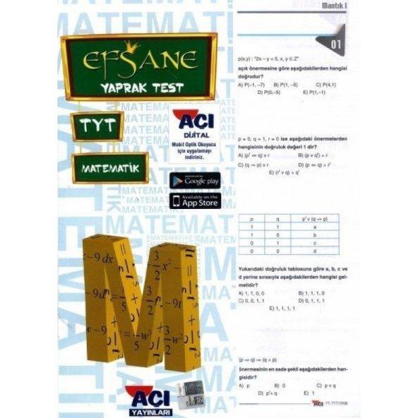 Tyt Matematik Çek Kopar Yaprak Test - Açı Yayınları