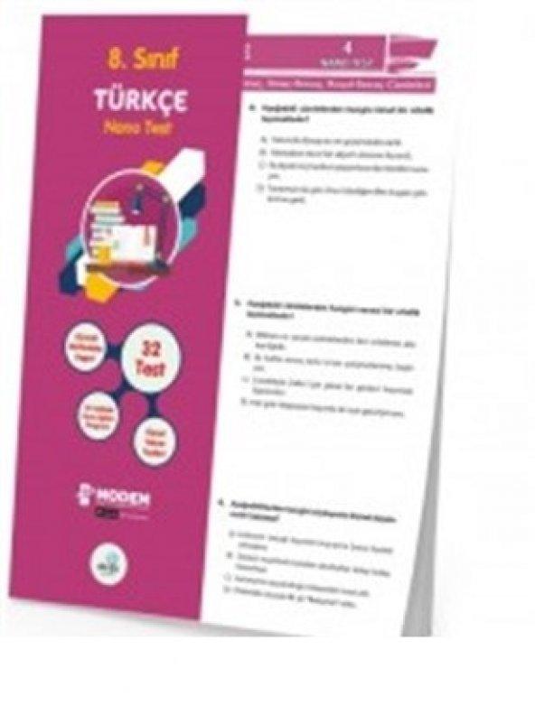 8.Sınıf Türkçe Nano Poşet Test - Dorya Yayınları