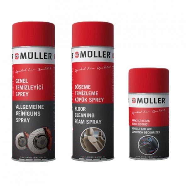 Müller Oto Bakım ve Temizlik 3Lü Set