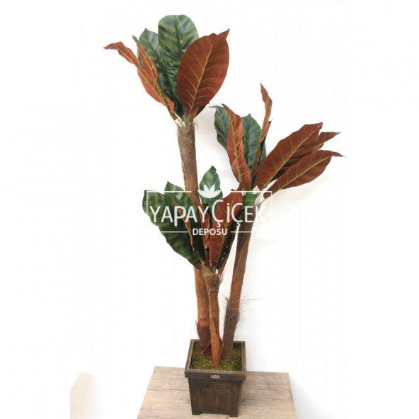 Yapay 3lü Ağaç 135 cm Kahve-Yeşil