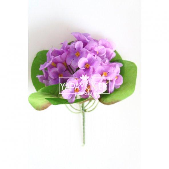 Yapay Çiçek Mini Menekşe Demeti Lila