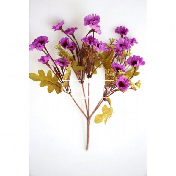 Yapay 20li Papatya Çiçeği Demeti Mor