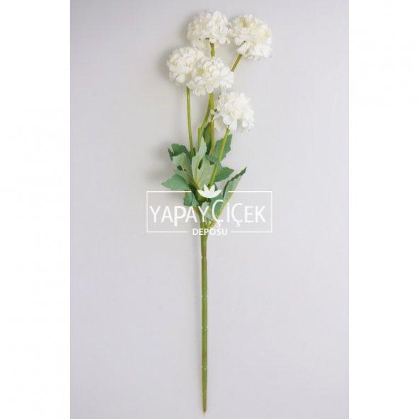 Yapay 5li Kasımpatı Demeti 40cm Beyaz