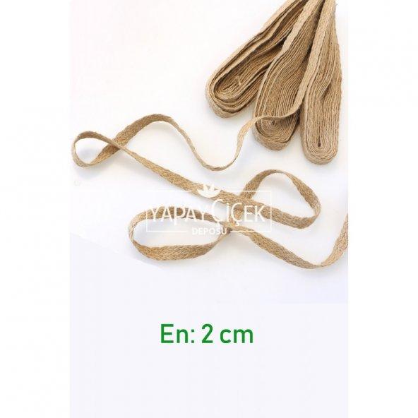 Şerit Jüt İp Örme Kendir 2 cm (5 metre uzunluk)