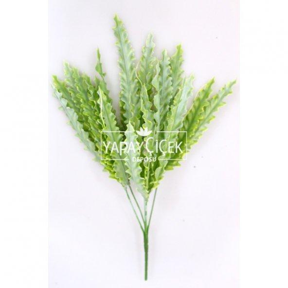 Dekoratif Yapay Tırtıklı Bitki Demeti Yeşil