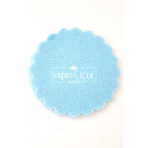 100lü Paket Karlı Tül 22 cm Mavi