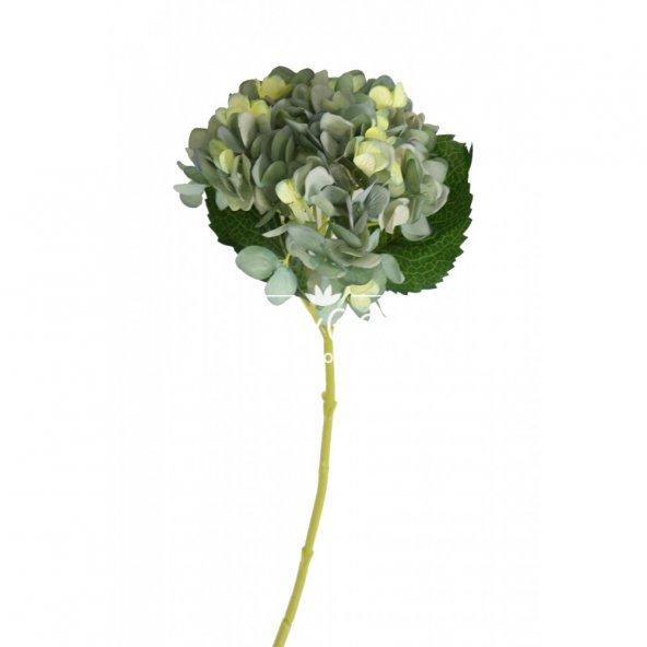 Yapay Delüx Bodur Ortanca Dalı 45 cm Mint Yeşili