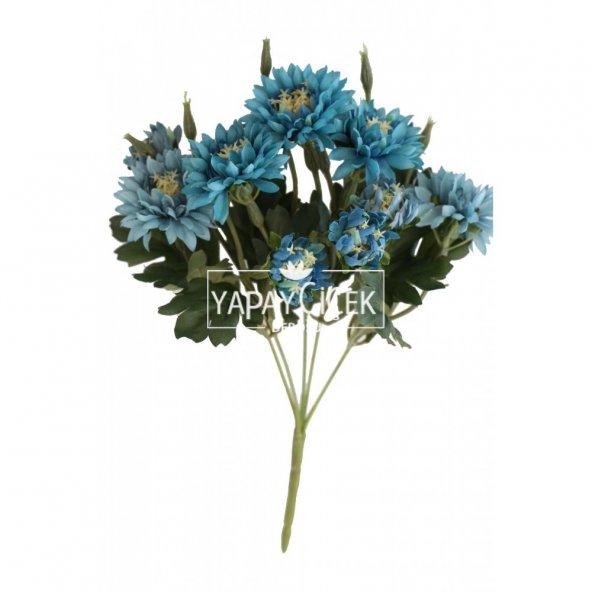 Lüx Kasımpatı Demeti 33 cm Mavi