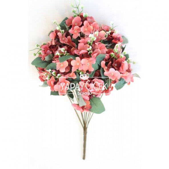 Yapay Çiçek 13 Dal Lux Pastel Ortanca Demeti Narçiçeği