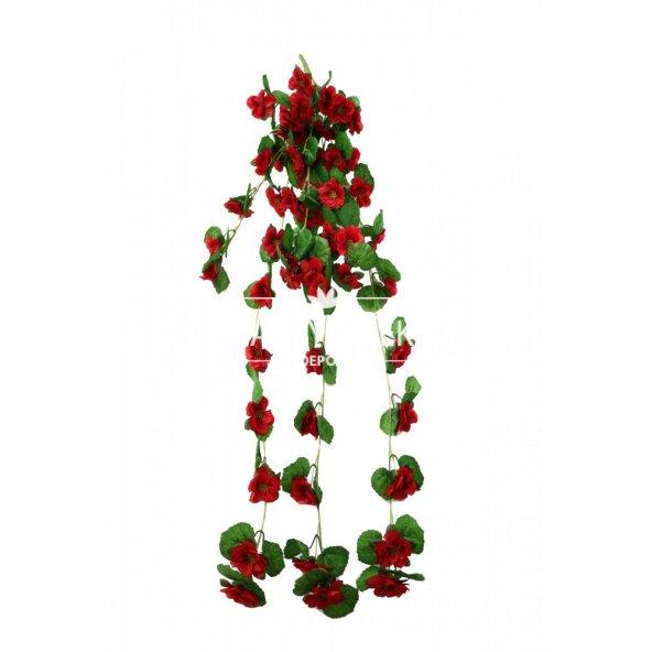 Yapay Bahar Çiçekli Sarkan 100 cm Kırmızı