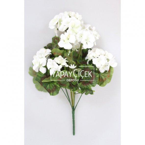 Yapay Çiçek Büyük Sardunya Demet Beyaz