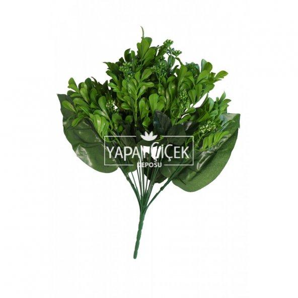 Yapay 18 Dallı Dev Kalanchoe Bitkisi 45 cm Yeşil