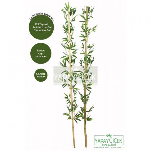 180 cm Yapay 21 Dal Yapraklı Gerçek Bambu