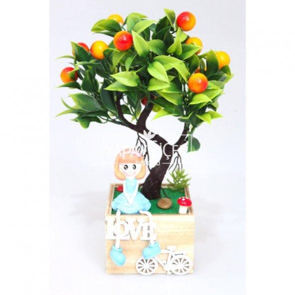 Dekoratif Küçük Biblolu Yapay Ağaç Model-3