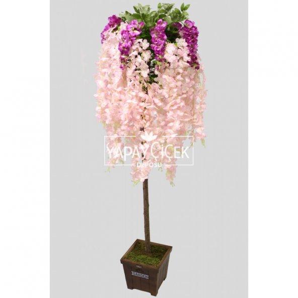Yapay Akasya Ağacı Pembe Çiçekli 180cm