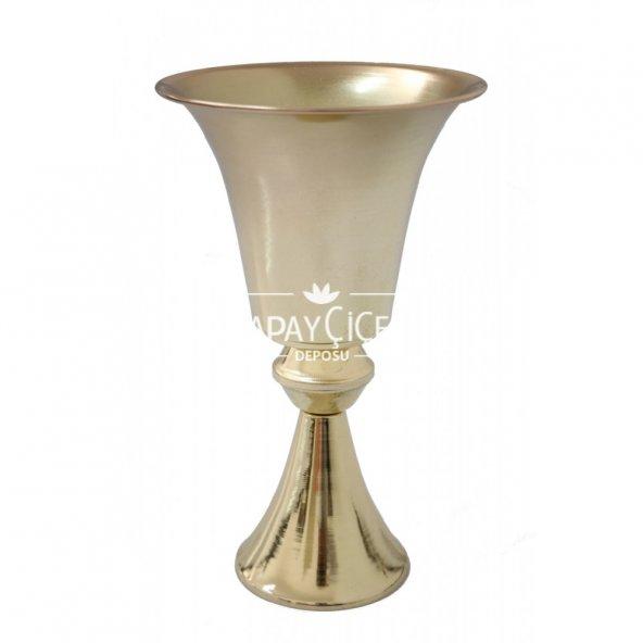 Dekoratif Metal Vazo 31 cm Gold