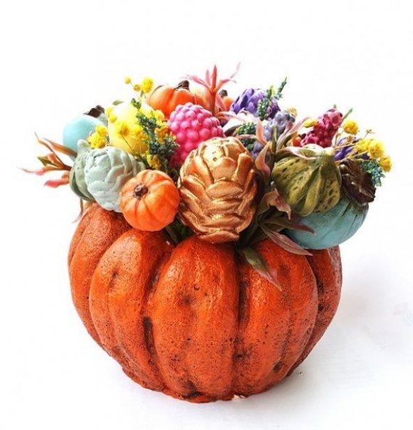 Sukulent Saksı Renkli Çiçek Demeti