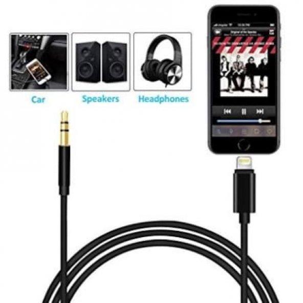 İphone Ligtning Aux Kablo Tak Çalıştır