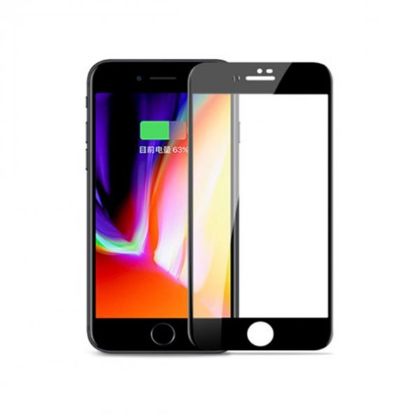 Joyroom JM349 iPhone 7-8 Siyah Curved Tempered Glass