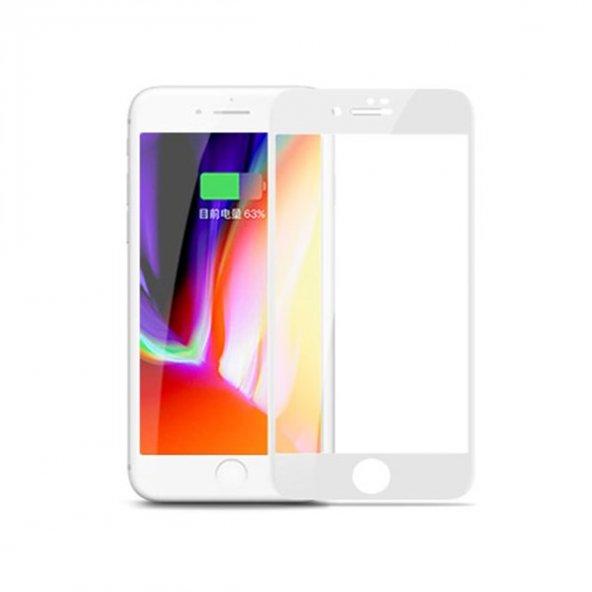 Joyroom JM349 iPhone 7 Plus Beyaz Curved Tempered Glass
