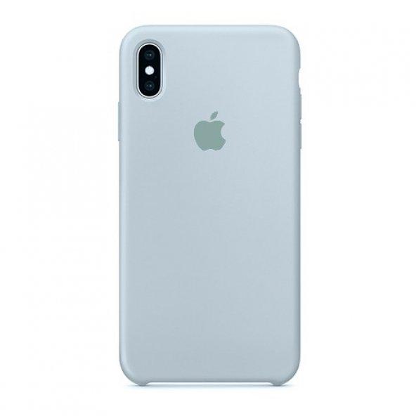 APPLE Logolu iPhone XS Max Lansman Light Blue Kılıf