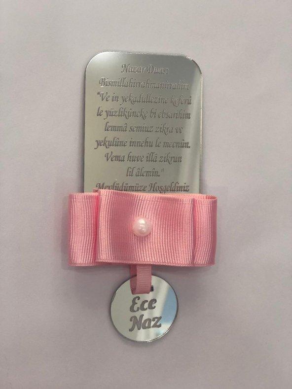 40 Adet 8*5 Ölçüsü İsme Özel Pleksi Sünnet,Bebek,Doğum Günü,Mevlid Magnet Hediyelik