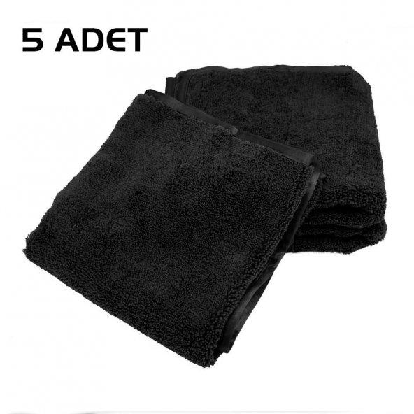 5 ADEt - Leke Tutmayan Siyah Uzun Ömürlü Havlu 200gram
