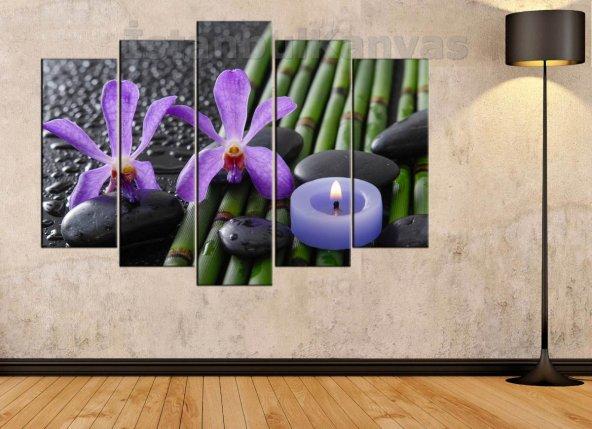 Bambu, Mum, Spa, Masaj Salonu, Zen Taşları, Orkideler Dekoratif