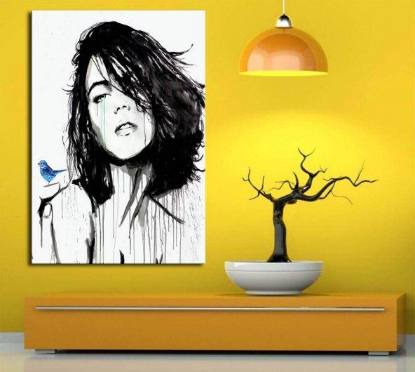 jvr13 Dekoratif Kadın Yüzü Tabloları