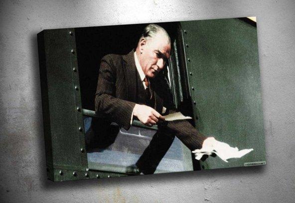 ata-205 Mustafa Kemal Ataturk Kanvas Tablo