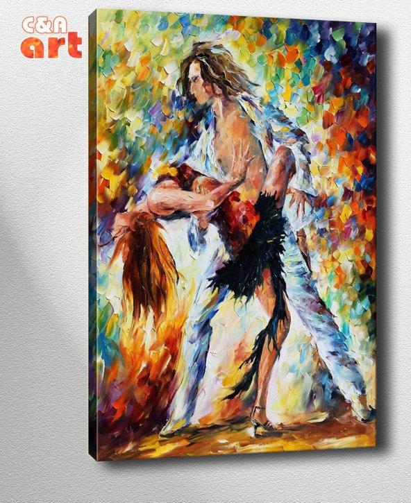 af60 Dansçılar Afremov Kanvas Tablo