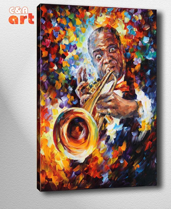 af39 Louis Armstrong Kanvas Tablo