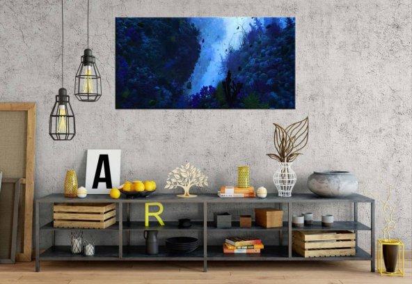 pn7 Resifler Panoramik Kanvas Tablo