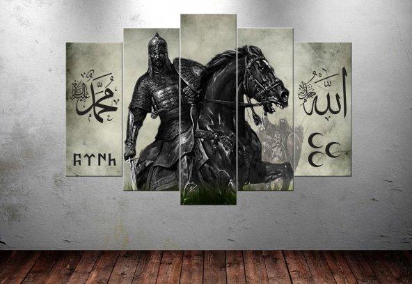 Slc14 Alparslan Kayı Allah Muhammed Türk Kanvas Tablo