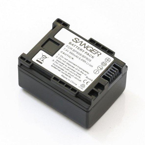 Canon LEGRIA HF M32 HF M31 HF M306 İçin BP808 Sanger Kamera Batarya
