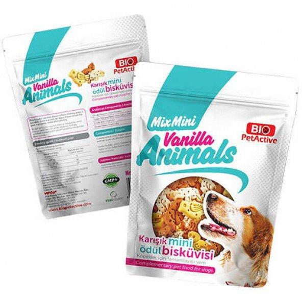 Bio Pet Active Vanilla Animals Karışık Mini Ödül Bisküvisi 200 Gr
