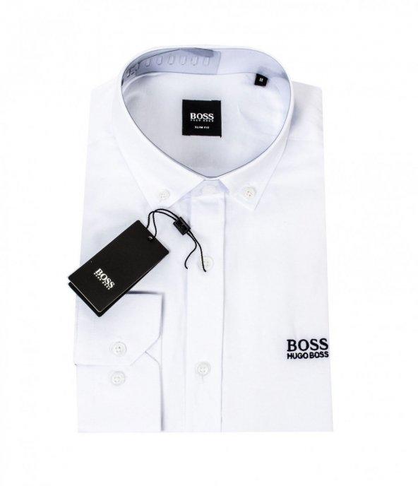 Hugo Boss SlimFit Kalıp Oxford Gömlek