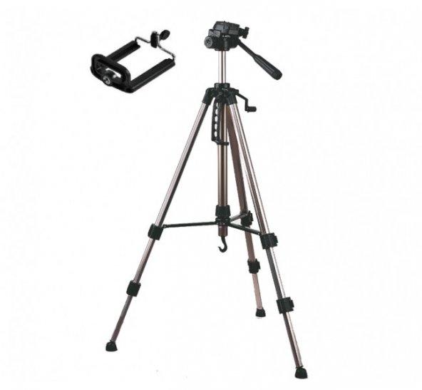 Tripod 170 cm Katlanabilir Telefon Kamera Youtuber Tripod Ayak