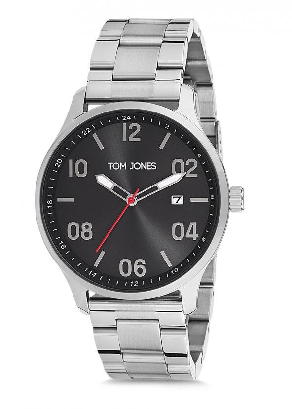 Tom Jones TJE9008 çelik kordon erkek kol saati 2 yıl garantili