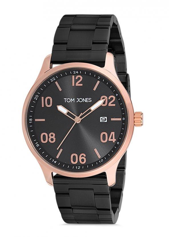 Tom Jones TJE9012 çelik kordon erkek kol saati 2 yıl garantili