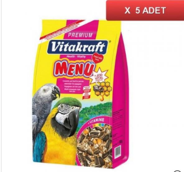 Vitakraft Menü Papağan Yemi 1000 Gr X 5 Adet