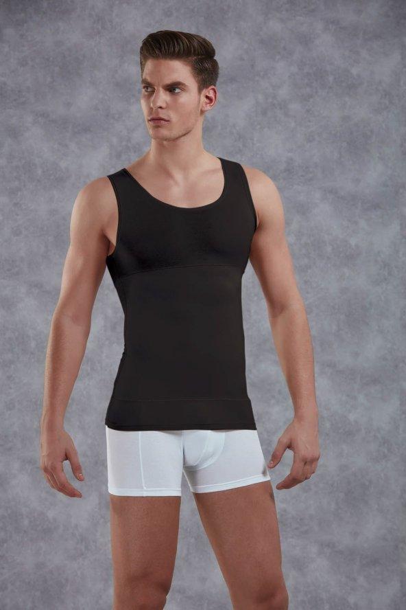 Doreanse Erkek Göbek Toparlayıcı Atlet 5950 Siyah